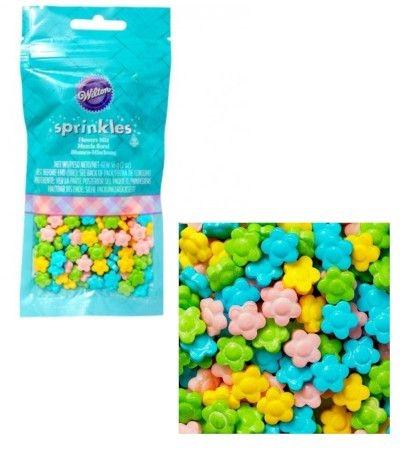 zuccherini fiorellini colorati