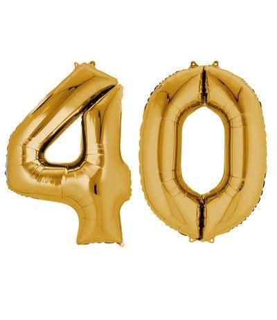 palloncino oro 40 anni-86cm