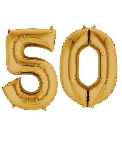 palloncino oro 50 anni 86cm