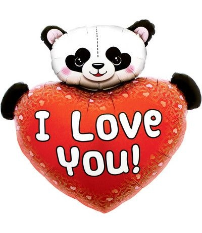 palloncino panda  love you- 90 cm