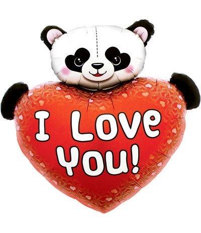 palloncino panda  love you