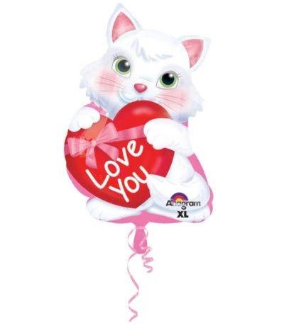 palloncino gattino innamorato