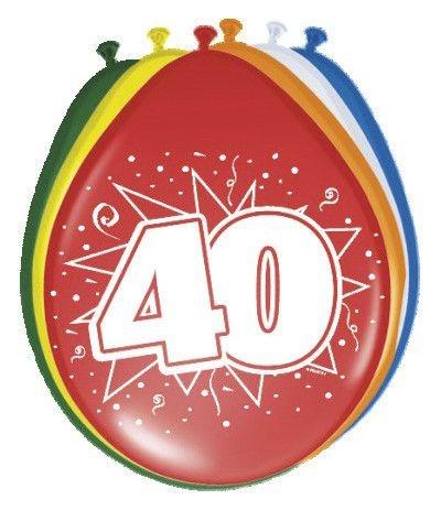 palloncini lattice 40 anni- 8 pezzi