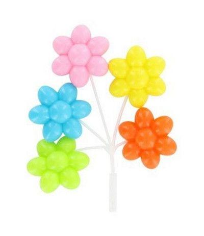 palloncini plastica a fiori per torte- 12 cm