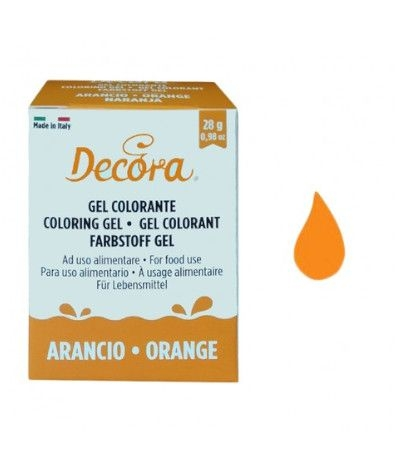colorante decora gel arancio- 28 gr