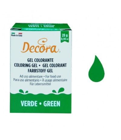 colorante decora gel verde- 28 gr