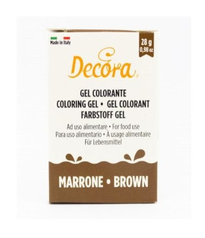 colorante decora gel marrone- 28 gr