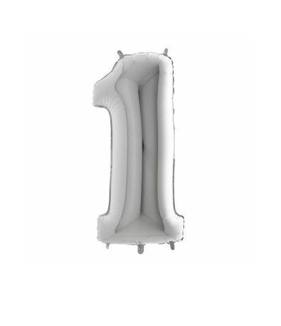 palloncino mylar argento 1 cm35
