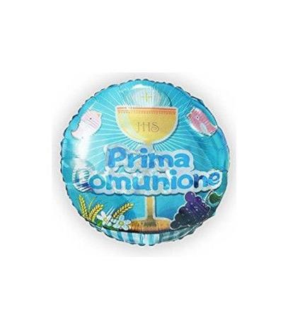 Palloncino mylar prima comunione azzurro cm 45