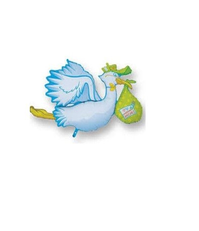 palloncino cicogna celeste