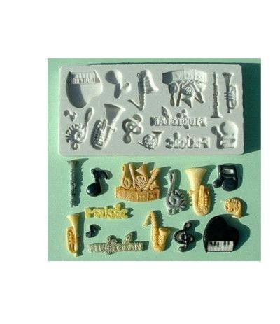 stampo silicone note musicali- 14 cavità
