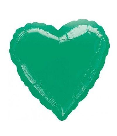 palloncino cuore verde- 45 cm