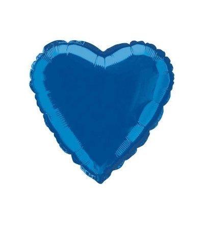 palloncino mylar cuore azzurro