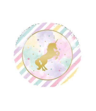 palloncino mylar unicorno arcobaleno- 45 cm