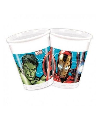 bicchieri avengers 2- 8 pezzi