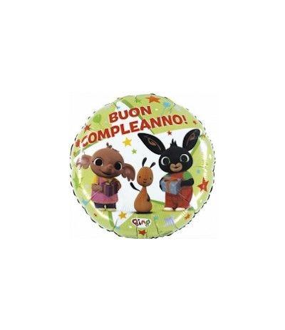palloncino mylar bing buon compleanno