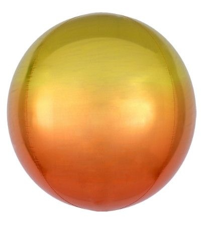 bubble sfera sfumata arancio giallo- 41 cm
