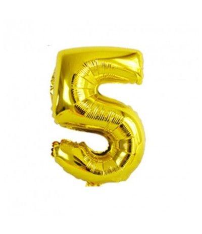 palloncino mylar n. 5 oro