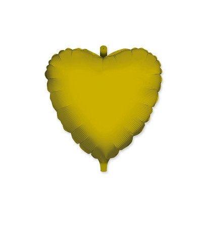 palloncino cuore mayler oro- 45 cm