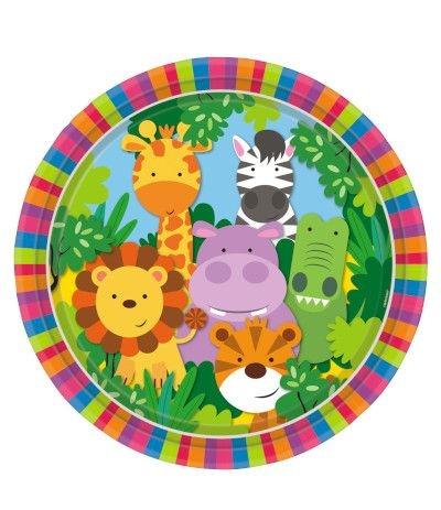 piatti animali della giungla- 8 pezzi
