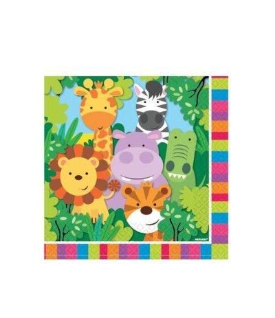 tovaglioli animali della giungla 2- 20 pezzi
