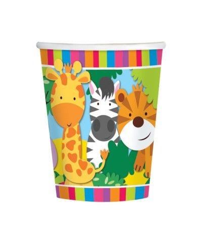 bicchieri animali della giungla 2- 8 pezzi