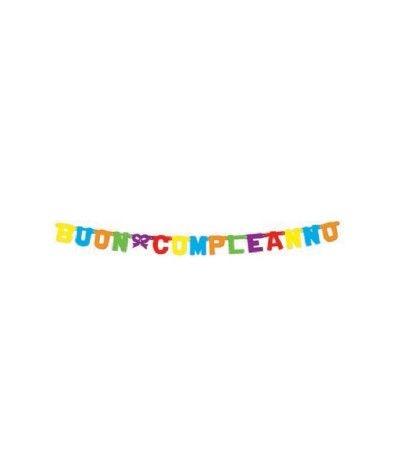 festone buon compleanno multicolore- 3,3 mt