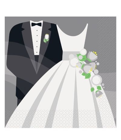 tovaglioli wedding 16 pezzi