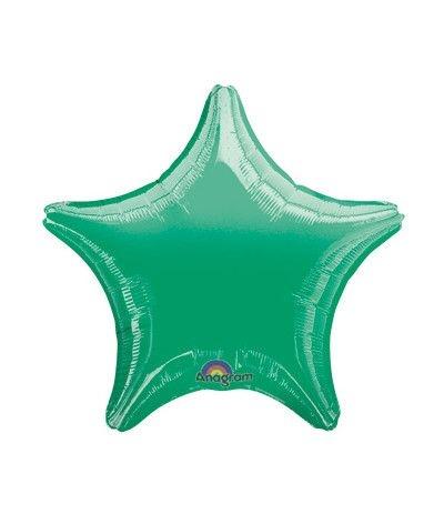 palloncino stella verde lucido- 46 cm