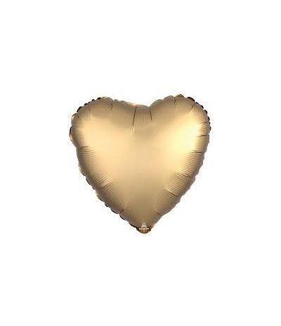 palloncino cuore satinato oro- 45 cm