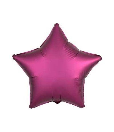 palloncino stella satinato prugna- 46 cm