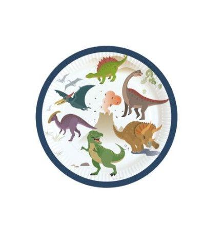 piattini dinosauri- 8 pezzi