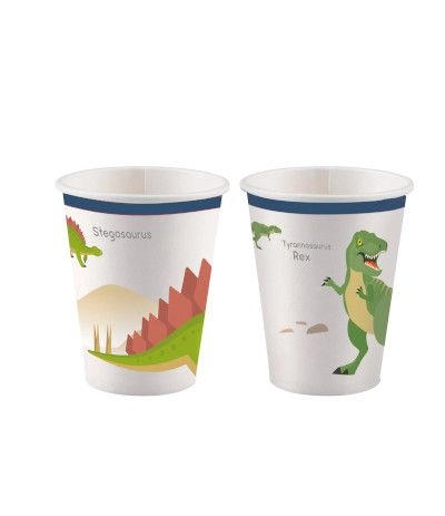 bicchieri dinosauri- 8 pezzi