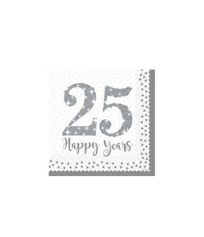 tovaglioli 25 anniversario- 16 pezzi