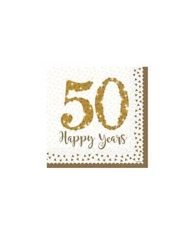 tovaglioli 50 anniversario- 16 pezzi