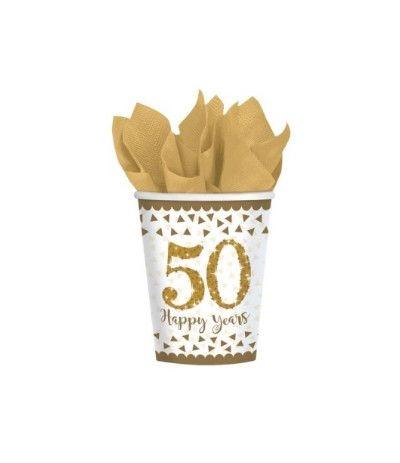 bicchieri 50 anniversario- 8 pezzi
