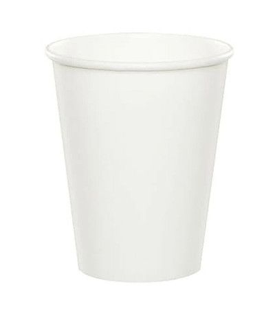 bicchieri carta bianchi- 8 pezzi