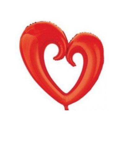 palloncino mylar cuore rosso 108 cm