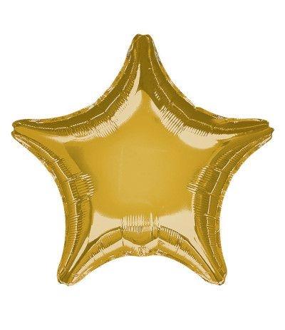 palloncino mylar stella oro- 46 cm