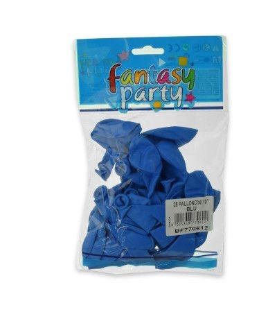 palloncini lattice 10'' azzurro 25 pezzi