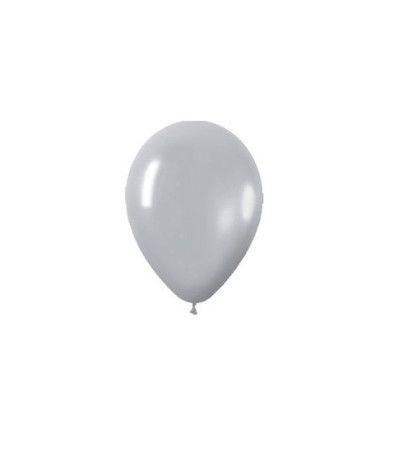 palloncini lattice 10'' argento- 25 pezzi