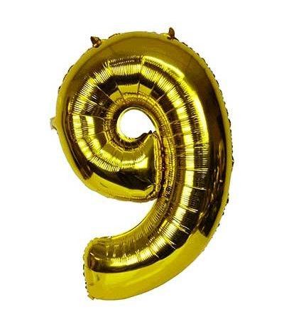palloncino mylar numero 9 oro 1 mt