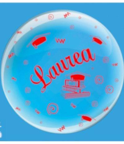 palloncino mylar laurea bubble- 61 cm