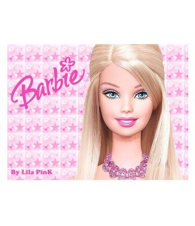 Cialda in pasta di zucchero A3- Barbie- 30 x 40 cm