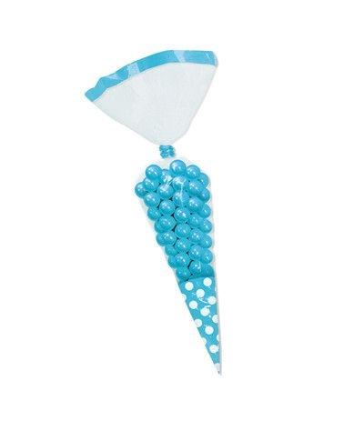 bustine trasparenti cono azzurro- 10 pezzi