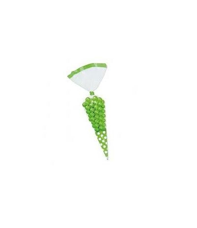 bustine trasparenti cono verde- 10 pezzi