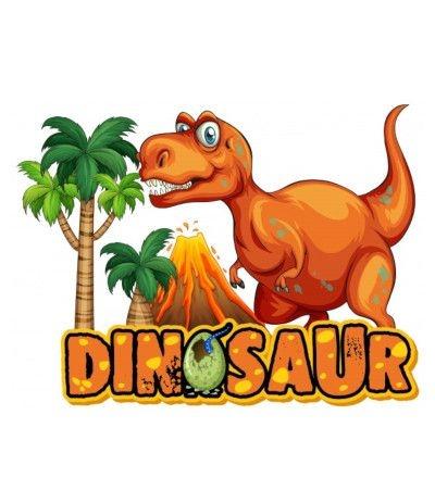 Cialda in pasta di zucchero A4- Dinosauri 20 x 30 cm