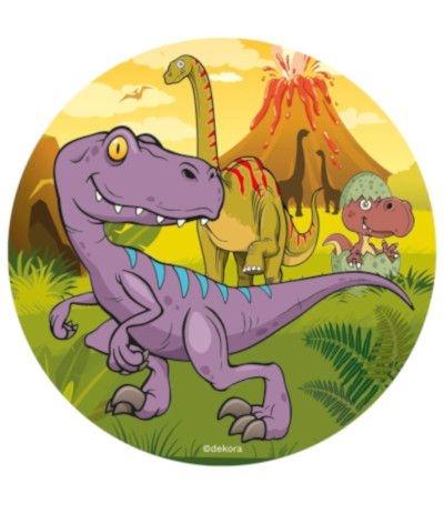 Ostia tonda A3- Dinosauri 30 cm