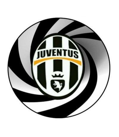 Cialda tonda in pasta di zucchero A4- Juventus 20 cm
