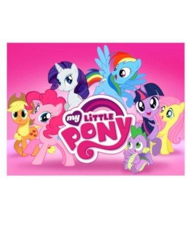 Cialda in pasta di zucchero A3- My Little Pony 30 x 40 cm